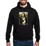 Mona Lisa & Siberian Husky Hoodie (dark)