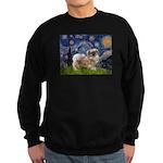 Starry / Tibetan Spaniel Sweatshirt (dark)