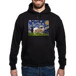 Starry / Tibetan Spaniel Hoodie (dark)
