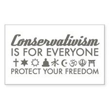 Conservativism is for Everyon Rectangle Decal
