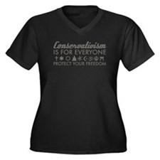 Conservativism is for Everyon Women's Plus Size V-