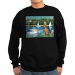 Sailboats / Vizsla Sweatshirt (dark)