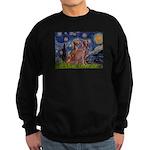 Starry / 2 Weimaraners Sweatshirt (dark)