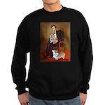 Lincoln's 2 Corgis (Pem) Sweatshirt (dark)