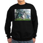 Lilies (#1) - Corgi (Bl.M) Sweatshirt (dark)