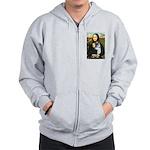 Mona Lisa / Corgi (bibl)Mona's Pembroke Zip Hoodie