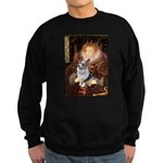The Queen's Corgi (Bl.M) Sweatshirt (dark)