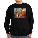 Room / Corgi pair Sweatshirt (dark)