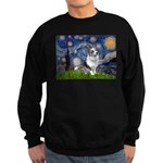 Starry Welsh Corgi (Bl.M) Sweatshirt (dark)