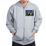 Starry Night / Welsh Corgi(bi Zip Hoodie