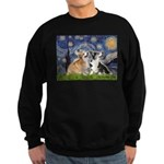 Starry Night / Corgi pair Sweatshirt (dark)