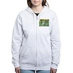 Irises / Westie Women's Zip Hoodie