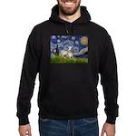 Starry Night Whippet Hoodie (dark)