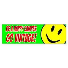 Smile - Happy Camper bumper sticker (green)
