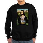 Mona & her Yorkie (T) Sweatshirt (dark)