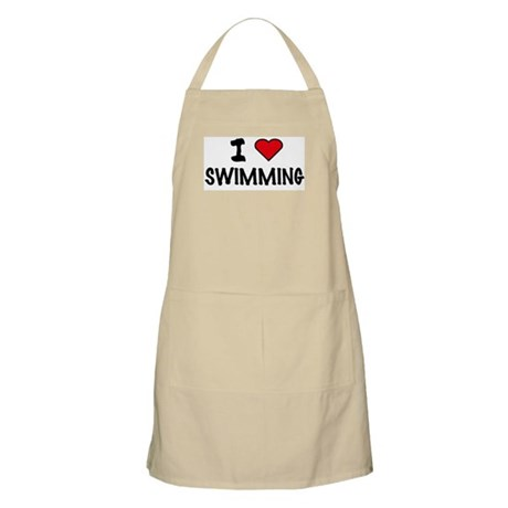 I LOVE SWIMMING BBQ Apron