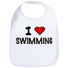 I LOVE SWIMMING Bib
