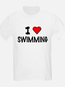 I LOVE SWIMMING Kids T-Shirt