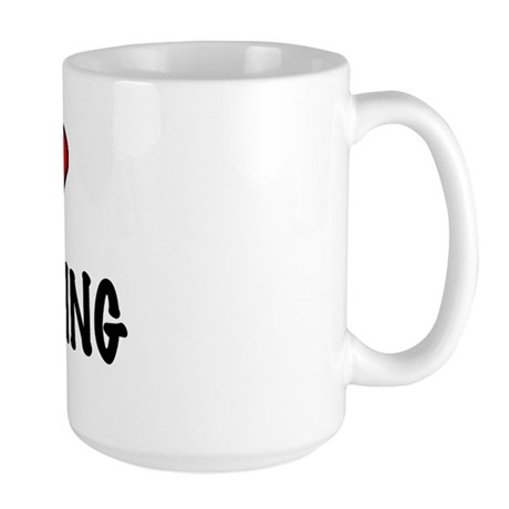 I LOVE SWIMMING Large Mug
