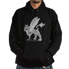 White Gryphon With Football Hoodie