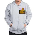 Yellow ET Pigeon Zip Hoodie
