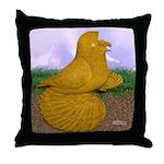 Yellow ET Pigeon Throw Pillow