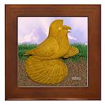 Yellow ET Pigeon Framed Tile