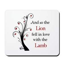 Lion and the Lamb Mousepad