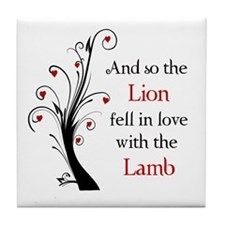 Lion and the Lamb Tile Coaster