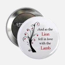 "Lion and the Lamb 2.25"" Button"