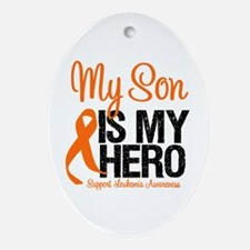 Leukemia Hero Oval Ornament