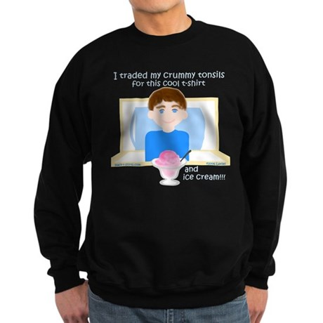 I Traded My Tonsils for... Sweatshirt (dark)