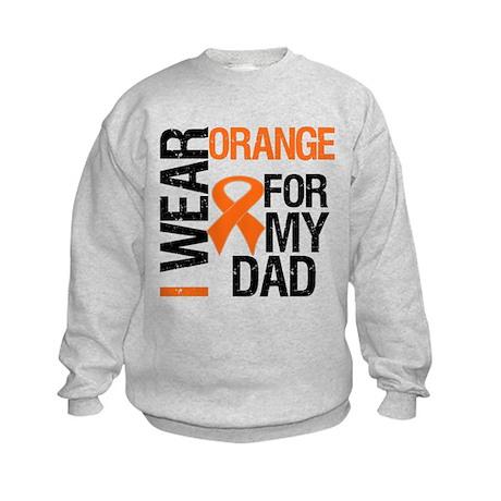 I Wear Orange For My Dad Kids Sweatshirt