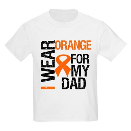 I Wear Orange For My Dad Kids Light T-Shirt