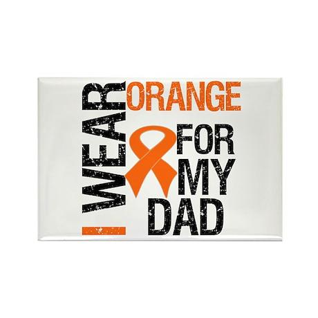 I Wear Orange For My Dad Rectangle Magnet