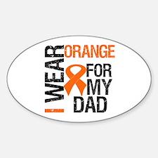 I Wear Orange For My Dad Oval Sticker (10 pk)