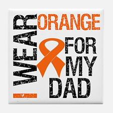 I Wear Orange For My Dad Tile Coaster