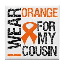 I Wear Orange For Cousin Tile Coaster