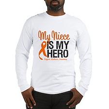 LeukemiaHero Niece Long Sleeve T-Shirt