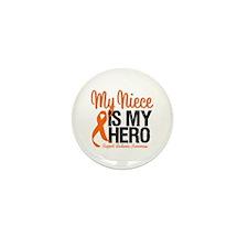 LeukemiaHero Niece Mini Button (10 pack)
