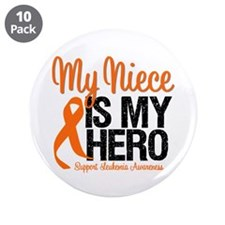 "LeukemiaHero Niece 3.5"" Button (10 pack)"