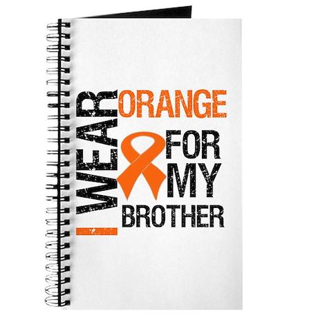 I Wear Orange For Brother Journal