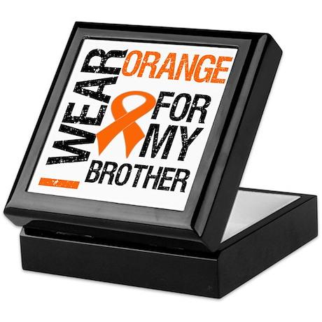 I Wear Orange For Brother Keepsake Box