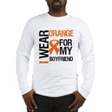 I wear orange for my boyfriend leukemia Long Sleeve T-shirts