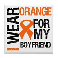 I Wear Orange Boyfriend Tile Coaster