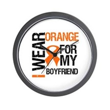 I Wear Orange Boyfriend Wall Clock