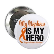 """LeukemiaHero Nephew 2.25"""" Button (10 pack)"""