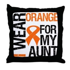 I Wear Orange For My Aunt Throw Pillow