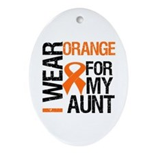 I Wear Orange For My Aunt Oval Ornament