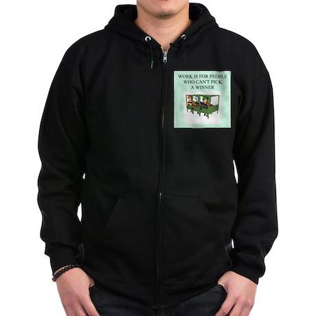 horse racing gifts t-shirts Zip Hoodie (dark)